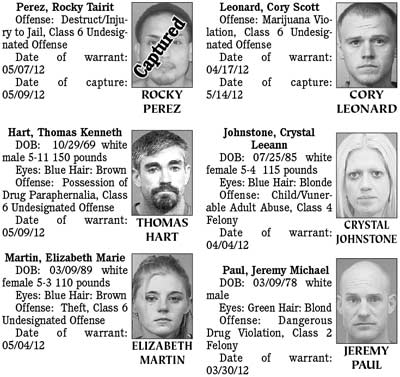 Mohave County's Most Wanted: Monday, May 21, 2012 | Kingman