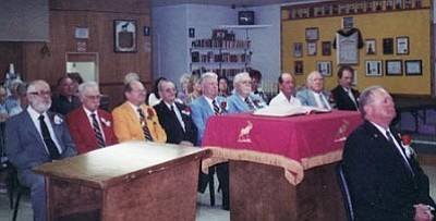 Courtesy<br> The Loyal Order of the Moose officers are: Governor Dale Cline, Junior Governor Chip Lorion, Junior Past Governor Joe Beirau, Prelate Jack Norton, Treasurer Bob Murphy, Administrator Bob Hickle, one-year Trustee Dusty Rhodes, two-year Trustee Ron White, three-year Trustee Steve Robb, Inner Guard Bob Dollarhide and Sgt. at Arms J.D. March.