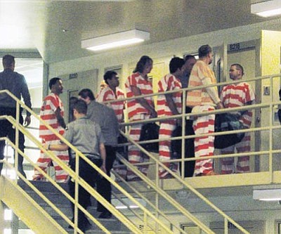 ERIN TAYLOR/Miner<br /><br /><!-- 1upcrlf2 -->Local inmates, such as those pictured here, will have their medical expenses covered by money from the county's contingency fund.<br /><br /><!-- 1upcrlf2 --><br /><br /><!-- 1upcrlf2 -->