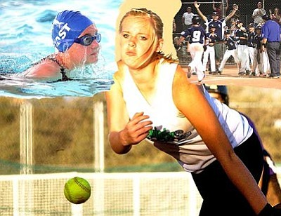 Photo Illistration by RODNEY HAAS/Miner <br /><br /><!-- 1upcrlf2 -->Kingman hosts the Arizona Swim Regionals and Class B State Softball tournament this weekend, and next week the Minor's Little League State Tournament. The events are expected to generate just over  $300,000 for the local economy.