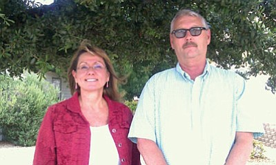 Courtesy<br> Nancy Colbaugh and Michael Carter earned certified professional public buyer credentials.