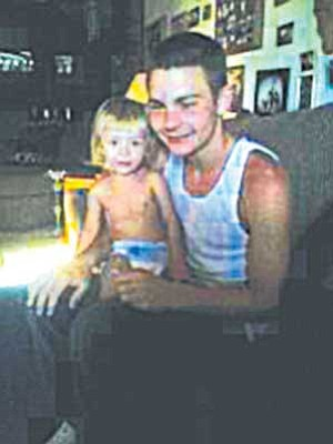 Mymern Family/Courtesy<br /><br /><!-- 1upcrlf2 -->This is one of the last pictures taken of Dakota Mymern, shown here with his niece, almost 2. He died several hours later.<br /><br /><!-- 1upcrlf2 -->