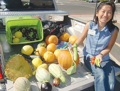 Courtesy<br /><br /><!-- 1upcrlf2 -->With a combined harvest from several schools on board, Nina Brackett heads to the Mohave County Fair a couple of years ago.