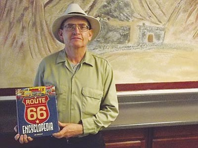 "AHRON SHERMAN/Miner<br> Local Route 66 author and historian Jim Hinckley's eighth book, ""The Route 66 Encyclopedia,"" released in late October and has already sold half of its first printing."