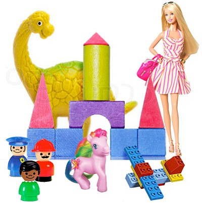 """""""I grew up in a world of building blocks, Legos, Fisher-Price people, My Little Pony and Barbie dolls….They were toys that made you use your imagination."""""""