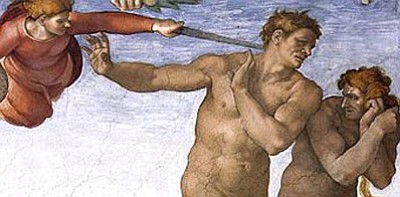 Since Adam and Eve, every single human being alive has sinned. God gave each of us a special gift called free will. (Above is a section of Michelangelo's famous  painting on the ceiling of the Sistine Chapel.)