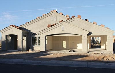 JC AMBERLYN/Miner<br> A house under construction along Country Club Drive.