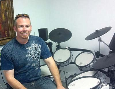Courtesy<br> Jeremy Donson teaches students of all levels how to play the drums. He's expanding his business to include virtual lessons, which will be available in February.