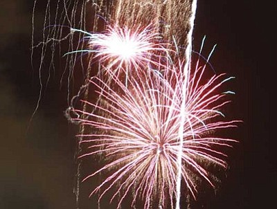 JC AMBERLYN/Miner<br /><br /><!-- 1upcrlf2 -->Last year's fireworks display was paid for through a series of fundraisers and other events put on by the Kingman Boomers.<br /><br /><!-- 1upcrlf2 -->