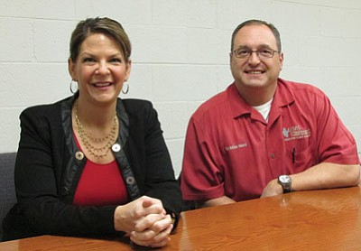 The doctors are in: Sen. Kelli Ward (private practice) and husband Mike Ward (Kingman Regional Medical Center emergency room) discuss the state of health care and how it could be impacted by the Affordable Care Act.<BR>SUZANNE ADAMS/Miner