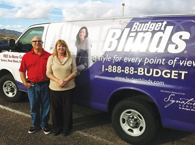 Budget Blinds of Lake Havasu and Kingman was one of 14 small businesses in the state recognized for its success after consulting with the Mohave Community College Small Business Development Center.<BR>Courtesy
