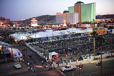 The annual Laughlin River Run gets under way today and continues through the weekend.<BR>RODNEY HAAS/Miner
