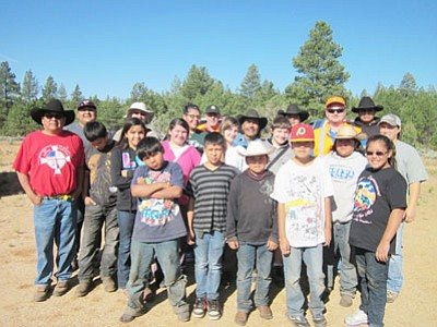 These members of the Hualapai Tribe were the first ever to graduate from an Arizona Hunter Education course on the reservation. The class was part of a five-day youth camp that was set up by the tribe's Natural Resources Department.   (DON MARTIN/Special to the Miner)