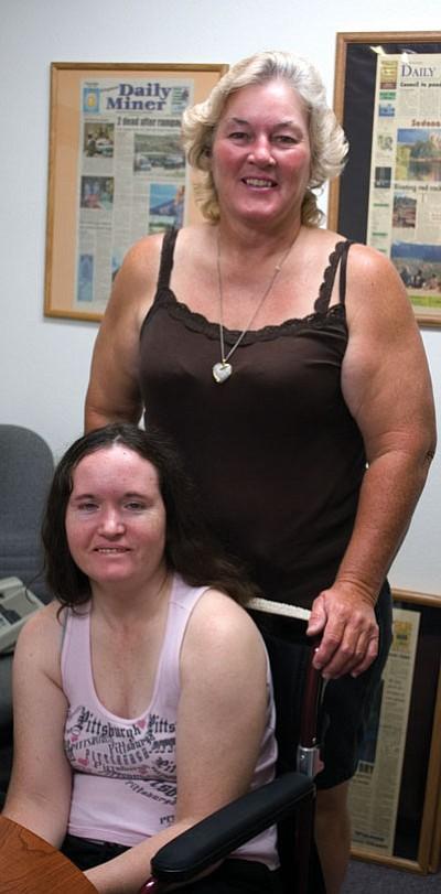 Judy Adams and her daughter, April.