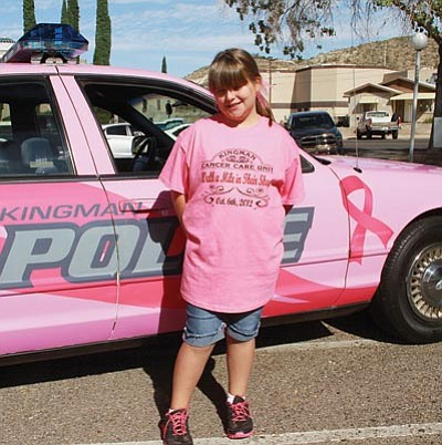 "JC AMBERLYN/Miner<BR> Kendall Frischman, a cancer survivor, was at the Kingman Cancer Care Unit's ""Walk a Mile in Their Shoes"" event last October with her grandmother, Linda Low. This year's benefit for the volunteer unit takes place Oct. 5."