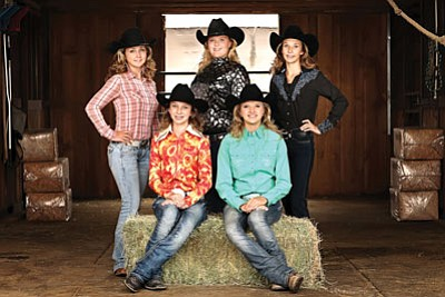 Courtesy<br /><br /><!-- 1upcrlf2 -->These girls are competing for Andy Devine Days Rodeo Queen and Teen Queen titles this year. From left, they are (back row) Becca Polizzi, Austyn Burt, Brittney Brodar, (front row) Breanna Weber and Mira Singer.