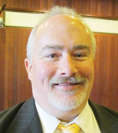 DOUG McMURDO/Miner<BR> John Dougherty was offered the city manager job Friday morning. Pending successful employment contract negotiations, he hopes to start Dec. 2, the Monday after the Thanksgiving holiday weekend.