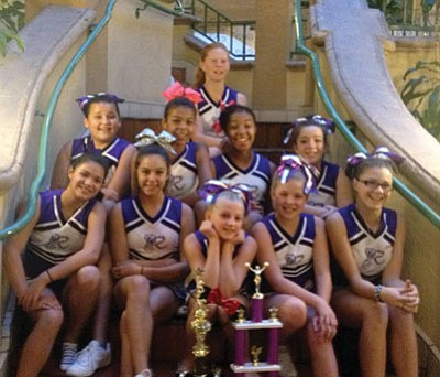 Courtesy<BR> The Kingman High Desert Rattlers Pee Wee Pop Warner Dance and Cheer team won first place at a regional meet Nov. 24.