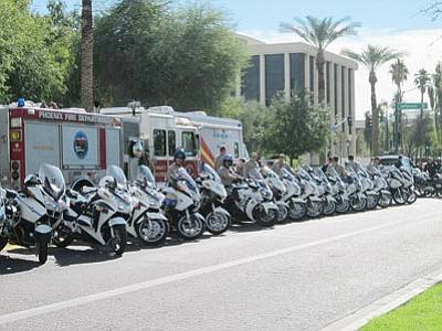 Law enforcement officers from around the state gathered in Phoenix Dec. 3 to officially kick off the 2013 holiday season DUI crackdown.  (Courtesy)