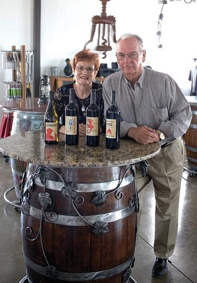 SUZANNE ADAMS-OCKRASSA/Miner<BR> Jo and Don Stetson opened their winery and event center near Valle Vista in November 2012. The winery has become a hot spot for local, national and international wine drinkers.