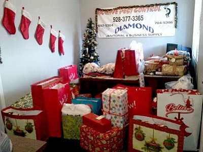 Diamond Janitorial Supply L.L.C. and Mohave Pest Control L.L.C. hope to continue the Havasupai Elder Angel Tree as a tradition in coming years.