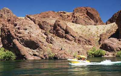 State Rep. Sonny Borrelli has sponsored legislation that, if ultimately signed into law, would close what he said were two major loopholes in the state's watercraft laws. Above, boaters enjoy the Colorado River in this 2010 photograph.<br /><br /><!-- 1upcrlf2 --> (JC AMBERLYN/Miner