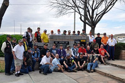 Mohave County Vietnam veterans gathered in 2013 at the Kingman Veterans Memorial in Locomotive Park to pay homage to the men and women who served during the Vietnam Conflict. The event was observed on March 29 this year.