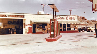 "Scenes from ""Edge of Eternity"" were shot at this gas station on Andy Devine Avenue. (Courtesy)"