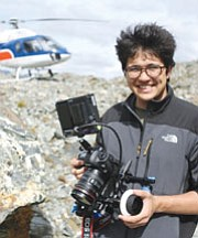 "STEVEN MORTINSON/Courtesy<br /><br /><!-- 1upcrlf2 -->Ryan Abella working on aerial shots for ""The Roots of Happiness"" in New Zealand. The movie was entirely shot on DSLRs.<br /><br /><!-- 1upcrlf2 -->"