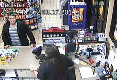 Law enforcement agencies are searching for this man, who allegedly robbed a convenience store Thursday. (Courtesy)