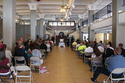 MATT REINIG/Miner<BR> Over 100 people gathered in the Central Commercial building Thursday for a Kingman Police Departmentn awards ceremony.