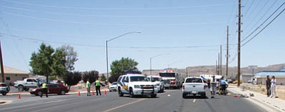 A 64-year-old woman was killed after she was struck by a truck at about noon on Friday. (Courtesy)