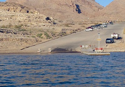DON MARTIN/For the Miner<BR> This is the new look at the South Cove ramp on Lake Mead. Even though launching is still limited to one boat at a time, this dock position is much better than it was.