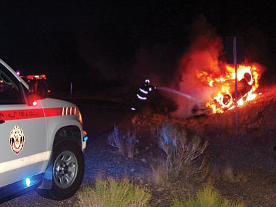 Courtesy<BR> Golden Valley firefighters were prepared for the worst when they responded to this rollover Friday night.