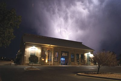 Lightning has put on quite a show over and around Kingman recently. (HERBERTA SCHROEDER/Courtesy)