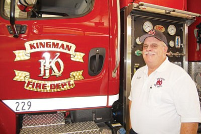 Kingman Fire Chief Chuck Osterman will retire at the end of the year. (DOUG McMURDO/Miner)