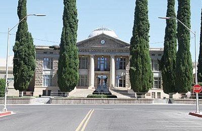Saying the historic courthouse is no longer adequate, Mohave County Commissioners made building a new one a budget priority. (JC AMBERLYN/Miner)