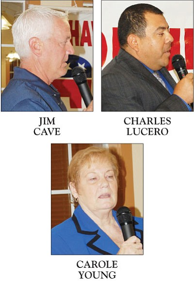 These are the Republican candidates for the Kingman Unified School District Board of Governors. (DOUG McMURDO/Miner)