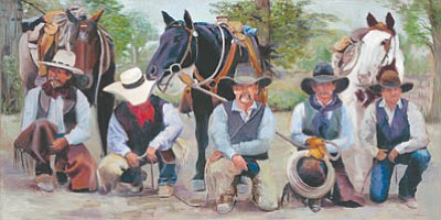 "Marless Fellows's painting ""Mischief"" helped introduce her to the world of cowboy poetry. (MARLESS FELLOWS/Courtesy)"