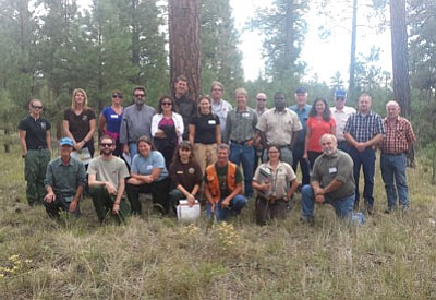 DON MARTIN/For the Miner<BR> Participants in the Burnt Corral Vegetation Collaborative group meeting held Sept. 18 on the North Kaibab.