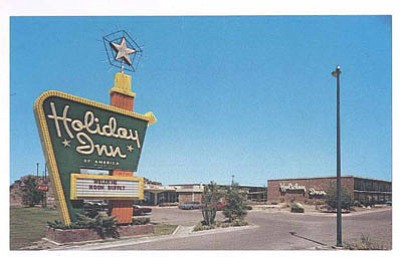 A postcard from the 1970s shows the old Holiday Inn on Route 66, which was rebranded as Ramada this summer. (CHAMBER OF COMMERCE/Courtesy)<br /><br /><!-- 1upcrlf2 -->