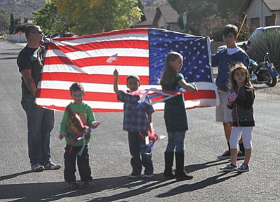 The Lingenfelter Center and The Gardens Rehab and Care Center held a Veterans Day parade for residents, family and guests. (JC AMBERLYN/Miner)