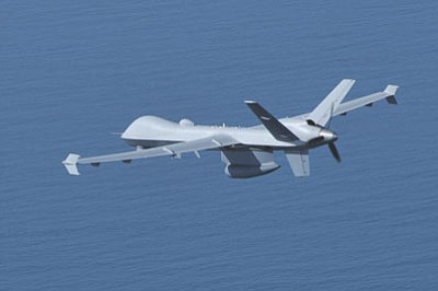 Pictured is a U.S. Customs and Border Patrol unmanned aerial vehicle. The drones are increasingly relied on to watch the U.S. border. (CBP/Courtesy)