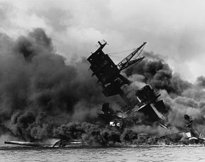 The USS Arizona was the most heavily damaged ship and also suffered the most casualties during the attack on Pearl Harbor. 1,177 men died on the ship. (Courtesy)