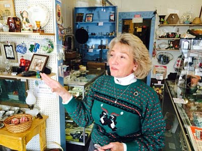 Mary Wise, co-owner of Time Was Antiques, leases space to 10 vendors at her 2,400-square-foot antique mall at 427 E. Beale St. She sees repeat business from foreign visitors every year. (HUBBLE RAY SMITH/Miner)