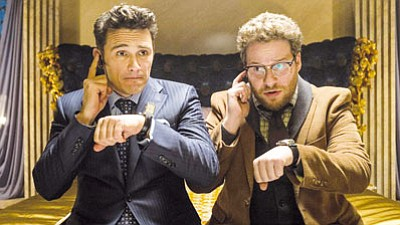 "James Franco (left) and Seth Rogan in ""The Interview."" (Sony Pictures/Courtesy)"
