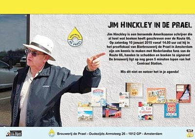 Local historian and author Jim Hinckley's upcoming presentations about Route 66 and Kingman for the Dutch Route 66 Association are being widely advertised on posters in the Netherlands. (Courtesy)