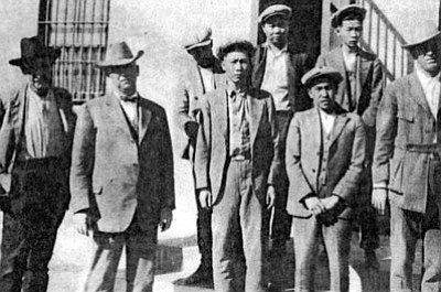 The Bing Kong Tong assassins after getting captured by Sheriff Mahoney and his deputies. (MOHAVE MUSEUM/Courtesy)