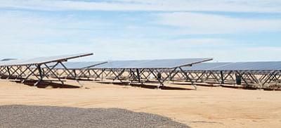 Solar panels at La Senita School on Gordon in Kingman. (JC AMBERLYN/Miner)<br /><br /><!-- 1upcrlf2 -->