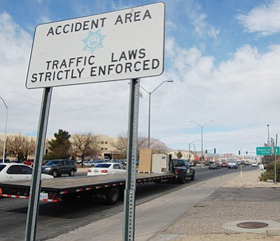Attorneys contemplating a wrongful death lawsuit against the city of Kingman and one of its employees contend the local government has been negligent in ensuring the reasonable safety of Stockton Hill Road. (DOUG McMURDO/Miner)